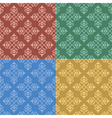 set - vintage color seamless patterns vector image vector image