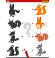shadow game with wild animals vector image vector image