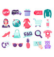 shop online items collection vector image vector image