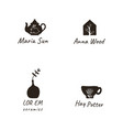 simple elegant and stylish collection of modern vector image