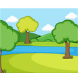 simple flat nature landscape vector image vector image