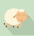 sleeping sheep icon flat style vector image vector image