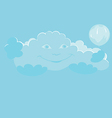 smiling cloud vector image