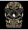 solemn veteran oath - american veteran vector image vector image