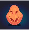 spooky halloween pumpkin vector image vector image