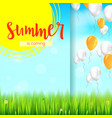 stylish summer advertisement background blue vector image