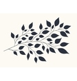 Stylized branches with foliage vector image vector image