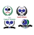 Table tennis emblems and symbols vector image vector image