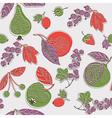 vintage screenprint nature vector image vector image
