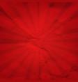 vintage sunburst red paper vector image vector image