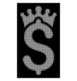 white halftone business crown icon vector image