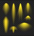 yellow spotlight light effect vector image vector image