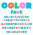 Colorful font made by threats kids font cartoon vector image