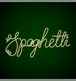 boiled floury spaghetti text vector image