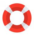 Red Lifebuoy Icon vector image