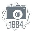 1984 photo camera logo simple style