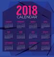 2018 abstract graphic printable calendar vector image vector image