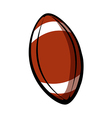 A rugby ball vector image vector image