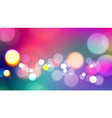 abstract colorful background with bokeh light vector image