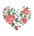 abstract heart roses vector image