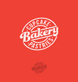 bakery logo lettering circle vintage signboard vector image