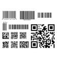 bar code icon qr code symbol vector image vector image