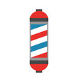 barbershop label with stripes vector image