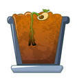 bean in ground germinated icon cartoon style vector image vector image