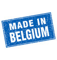 belgium blue square grunge made in stamp vector image vector image