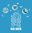 big data set icons vector image