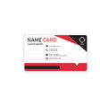 black red business modern name card image vector image