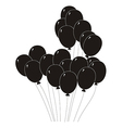 black silhouette of a balloons vector image vector image