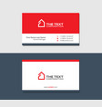 business cards template with house red color vector image vector image