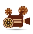 camera movie vintage film reel icon design vector image vector image