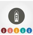 Camping lantern icon vector image