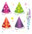 Carnival hats streamers vector image