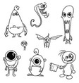cartoon monsters set02 vector image