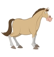 cartoon style horse icon vector image vector image