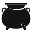 cauldron pot icon simple style vector image