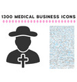 christian priest icon with 1300 medical business vector image vector image