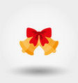 christmas bells with red bow vector image