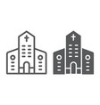 church line and glyph icon architecture and vector image