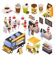 coffee house barista set vector image vector image