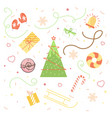collection of vintage merry christmas and happy ne vector image