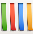 colored ribbon stripes vector image