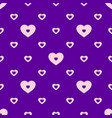 colorful seamless geometric hearts pattern vector image vector image