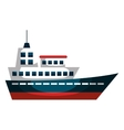 cruise ship silhouette isolated icon vector image vector image