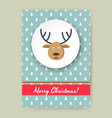 cute merry christmas greeting card with dear vector image