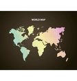 Earth and pointed icon World and Map design vector image vector image