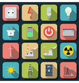Energy flat icons vector image vector image